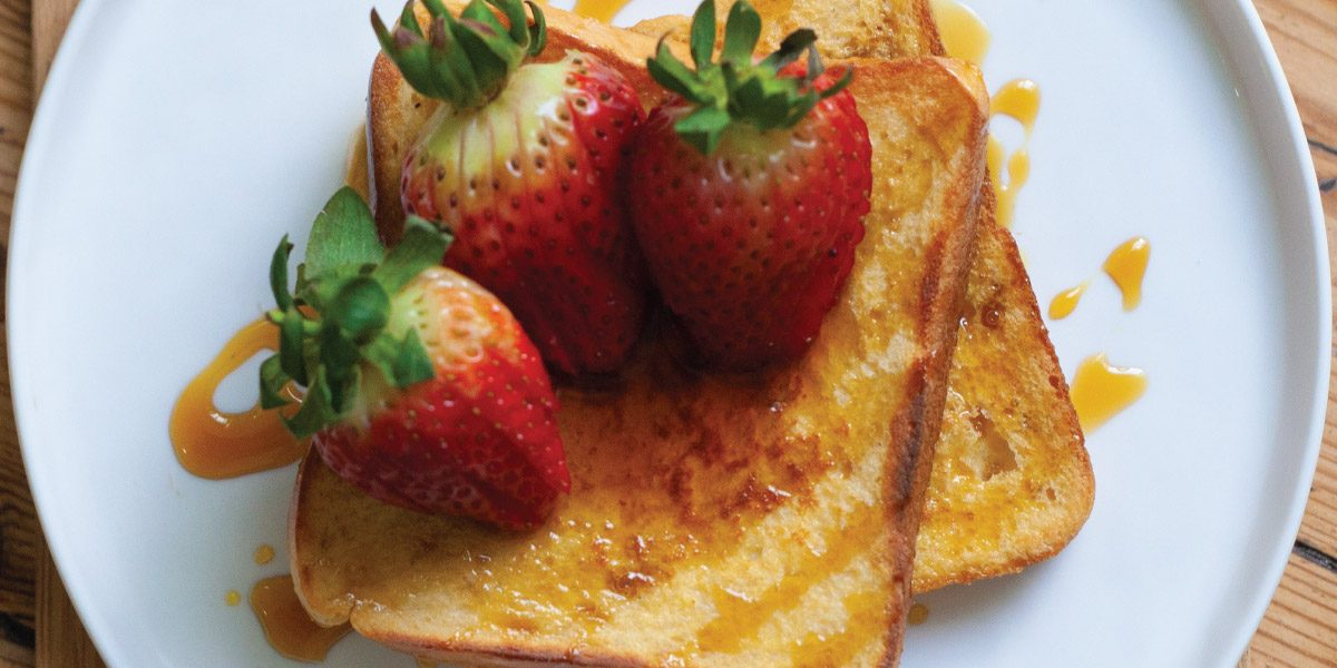Toplay Syrup and Strawberry French Toast